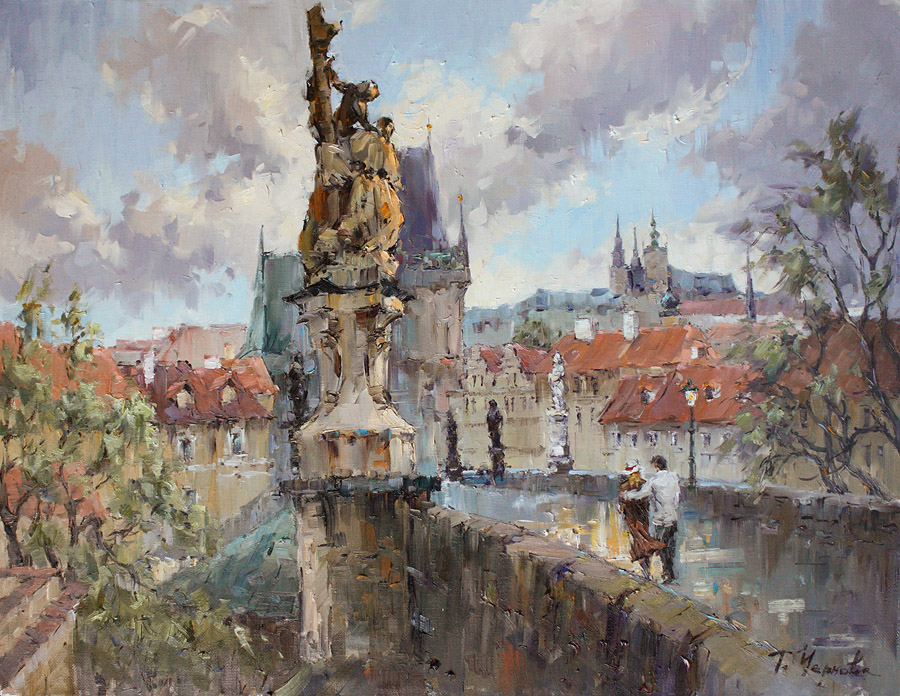 Prague | Gallery of paintings of Tatiana Chernova. You can ... |Czech Famous Paintings